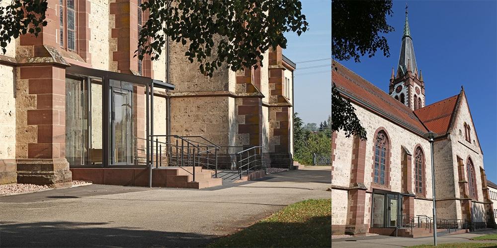 Neuer Südeingang von außen