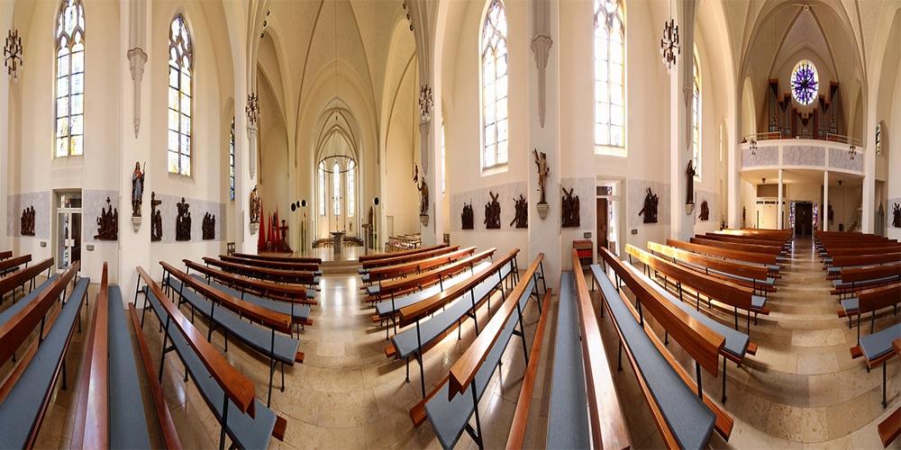 Panorama Kirche innen