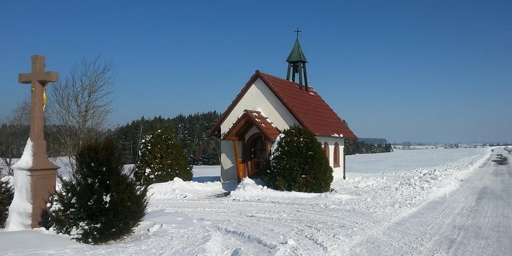Schirabura-Kapelle im Winter