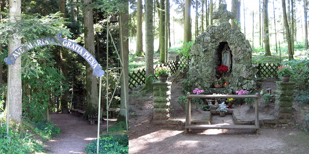 Lourdesgrotte in Aichhalden