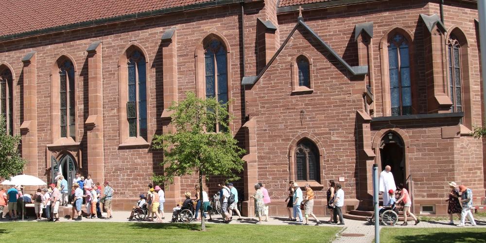 Ankunft Klosterkirche